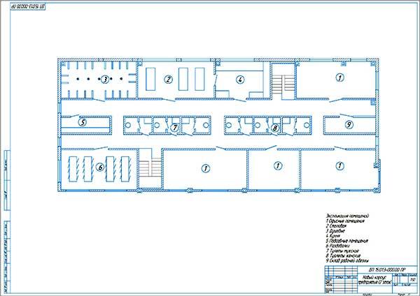 План нового производственного здания СТК 2 этаж