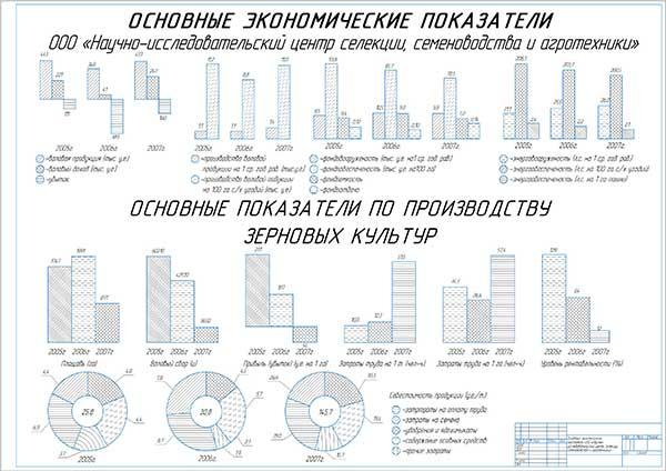Основные экономические показатели ООО