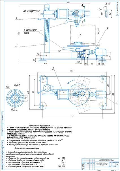 Установка для электроконтактной приварки порошковых материалов Вид общий