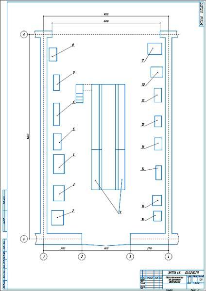 План поста технического обслуживания грузовых автомобилей