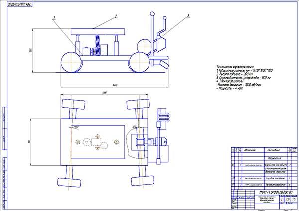 Устройство для подъема и перемещения коробок передач комбайнов Вид общий