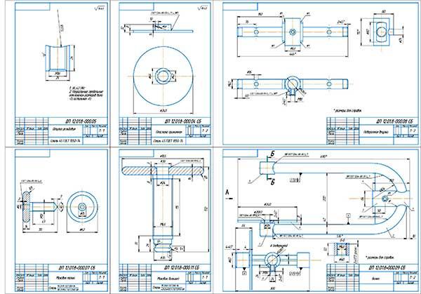 Деталировка стенда для промывки автомобильных радиаторов