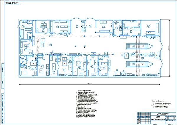 План производственного корпуса после реконструкции