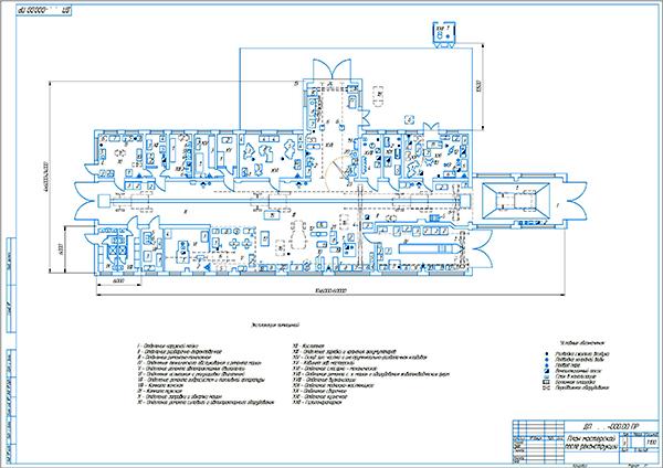 План мастерской после реконструкции