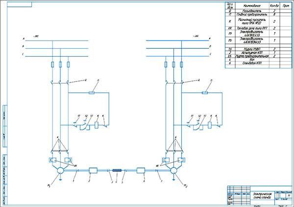 Электрическая схема стенда
