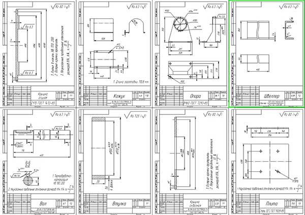 Деталировка стенда испытания коробок перемены передач автомобиля ЗИЛ