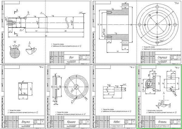 Деталировка стенда для разборки и сборки двигателей
