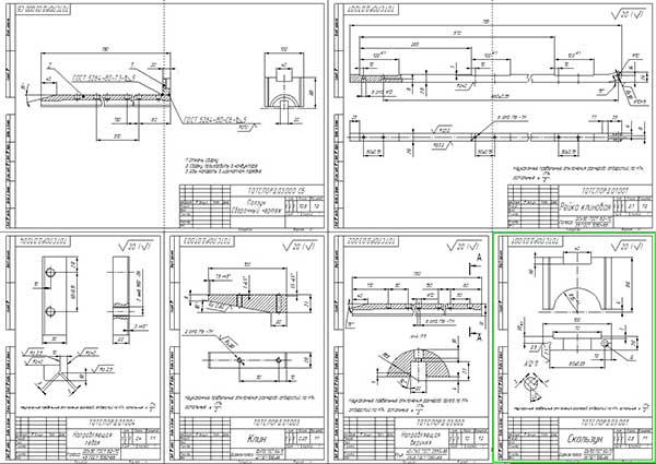 Деталировка стенда для снятия крышек коренных подшипников