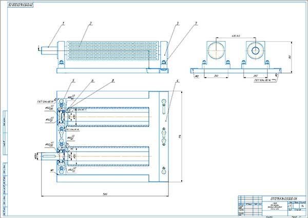 Сборочный чертеж барабана стенда проверки динамических свойств автомобиля