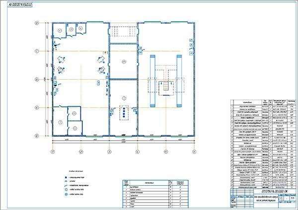 План производственного корпуса сервисного комплекса после реконструкции