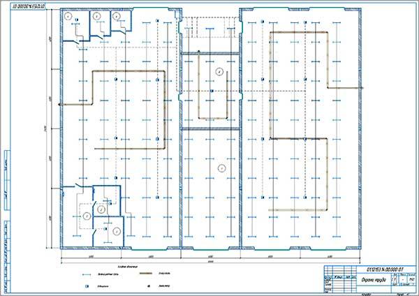 План освещения и вентиляции сервисного комплекса Придорожный