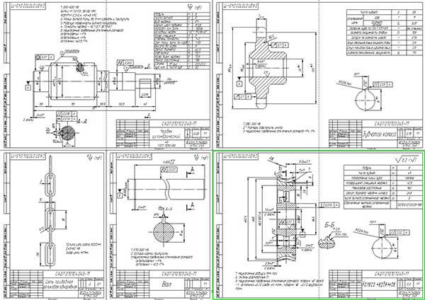 Деталировка привода электродвигателя роллетных ворот для СТО