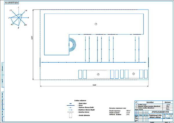 Генеральный план проектируемого тюнинг-ателье