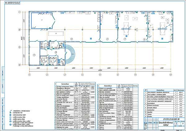 План производственного корпуса проектируемого тюнинг-ателье