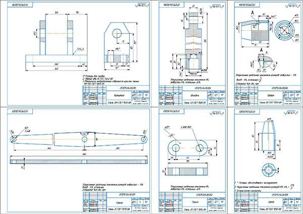Деталировка стенда выпрессовки клапанных втулок