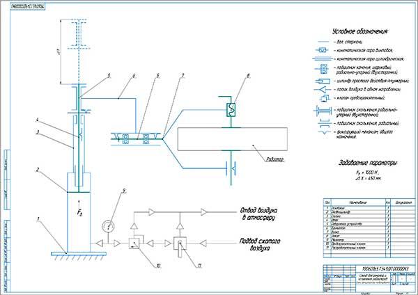 Схема принципиальная комбинированная предлагаемого стенда