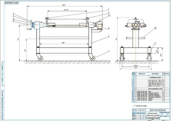 Стенд для разборки и сборки головки блока цилиндров двигателей Вид общий