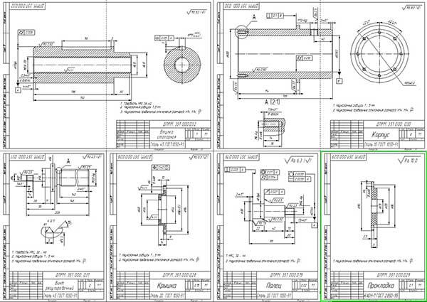 Деталировка стенда для разборки и сборки головки блока