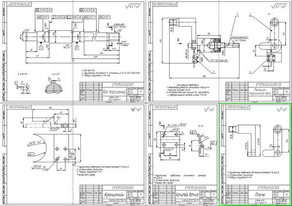Деталировка стенда проверки амортизаторов легковых автомобилей