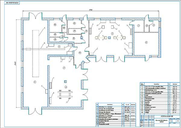 Производственный корпус проектируемой универсальной СТО