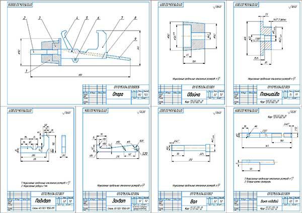 Деталировка стенда ремонта механических КПП