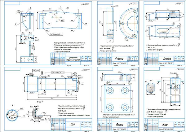 Деталировка стенда для ремонта ДВС и КПП