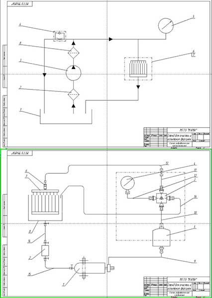 Схема гидравлическая принципиальная и схема гидравлических соединений