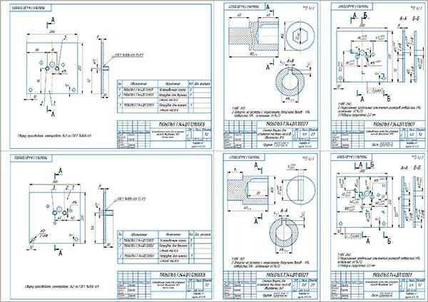 Деталировка стенда проверки масляных насосов двигателей