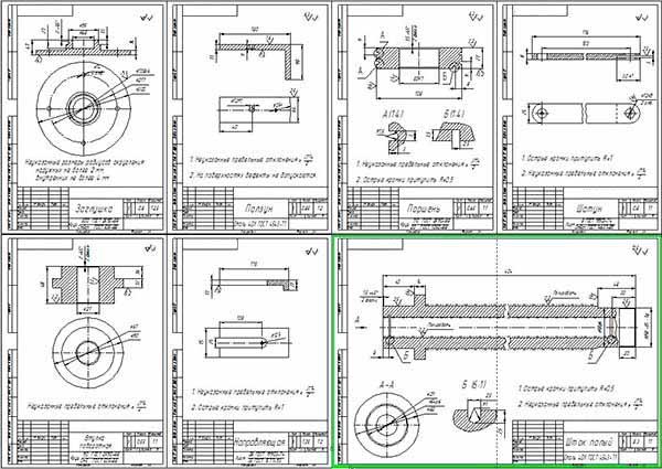 Деталировка стенда монтажа-демонтажа шин колес автобусов