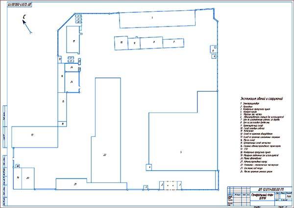Генеральный план строительной компании БПМК