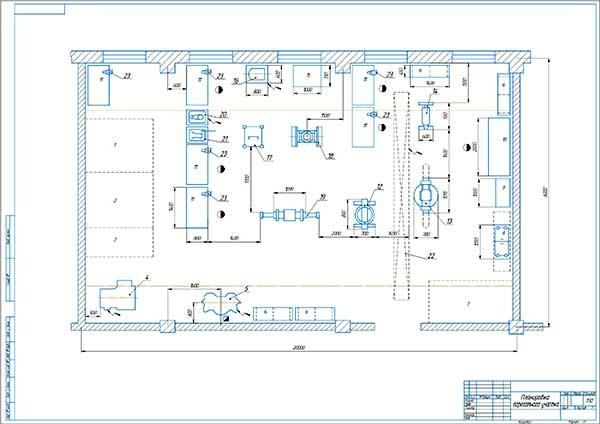 Планировка агрегатного участка СТОА СК-Моторс