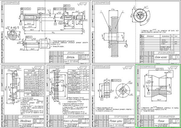 Деталировка тележки для снятия и транспортировки узлов и агрегатов автомобилей