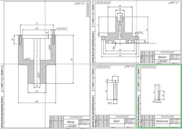 Деталировка пневматического приспособления для притирки клапанов