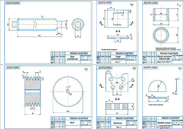 Деталировка стенда проверки гидроусилителя рулевого управления