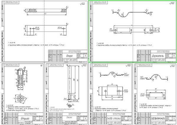 Деталировка установки для бездемонтажной промывки форсунок и инжектора