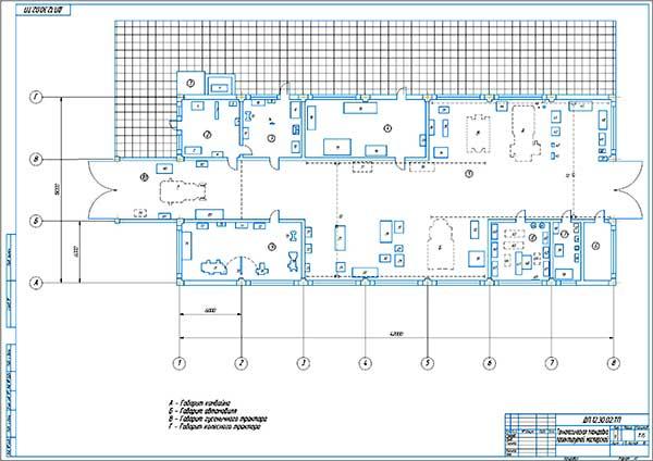 Технологическая планировка проектируемой мастерской ОАО Бройлер