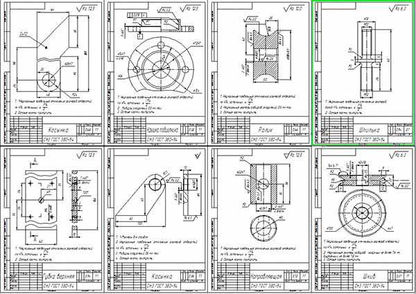 Деталировка стенда обслуживания радиаторов