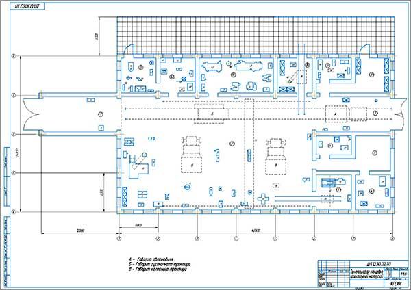 Технологическая планировка мастерской СХП