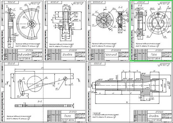 Деталировка станка шлифования клапанов ГРМ