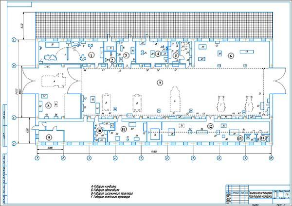 Планировка проектируемой мастерской СХО
