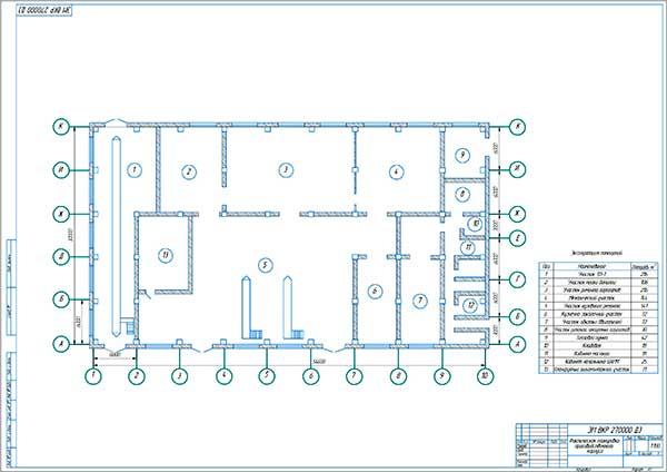 Планировка существующего производственного корпуса по ТО и ТР