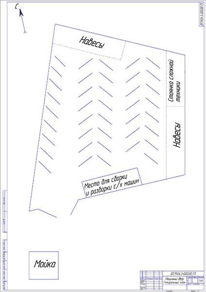 Машинный двор Генеральный план
