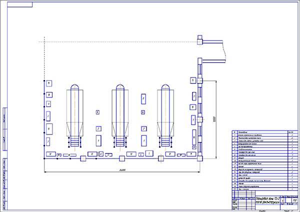 Планировка зоны ТО-2 после реконструкции
