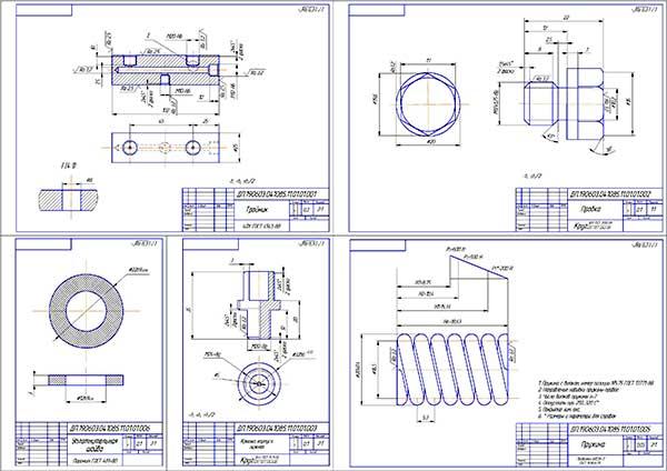Деталировка устройства для измерения компрессии