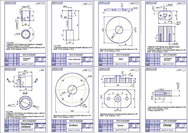 Деталировка стенда сборки-разборки ТНВД топливной системы Сommon Rail
