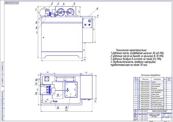 Стенд для проверки турбокомпрессоров Вид общий