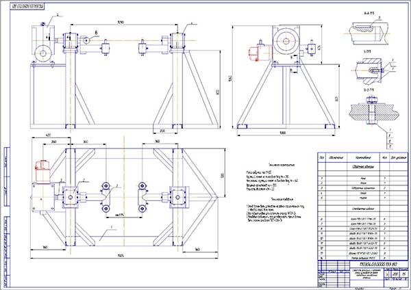 Стенд для фиксации и поворота блока цилиндров во время проведения наплпвочных операций