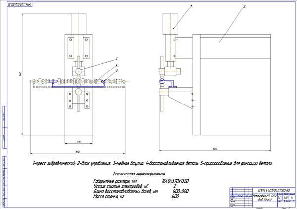 Установка для фиксации распределительных валов дизелей КАМАЗ МТ 1222 Вид общий