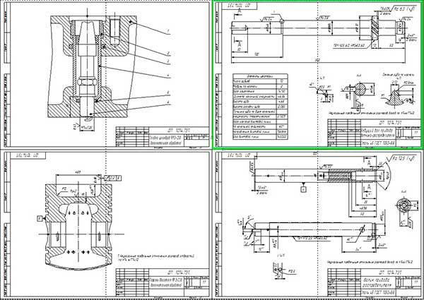 Конструктивные изменения деталей двигателя