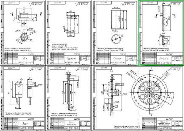 Деталировка стенда переклепки дисков сцепления